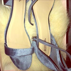 Shoes - Blue velvet shoes